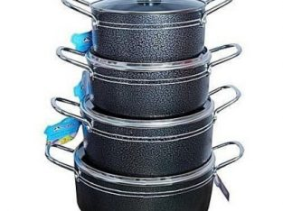 Master Chef 8 Pieces Non Stick Pots Small Size