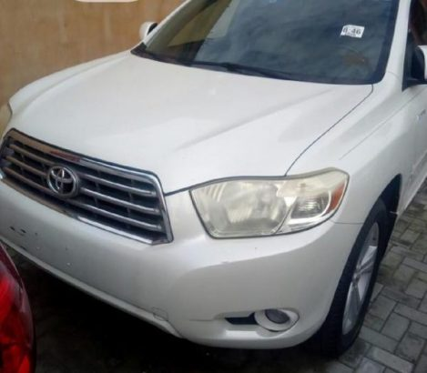 Toyota Highlander 2008 Limited White
