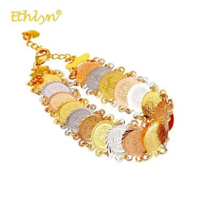 Ethlyn Bracelets For Women Tesbih Muslim Religious-Gold