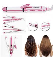 Nova 3 In 1 Hair Straightener,Curler And Professional Hair Dryer.