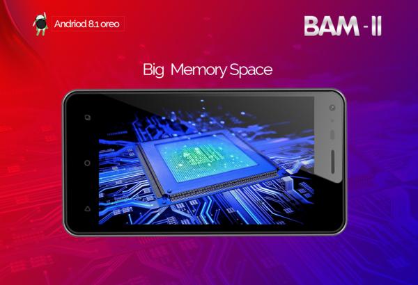 Imose BAM-II 4-Inch (4GB ROM) Android Oreo 3MP + 1.3MP Dual SIM Smartphone