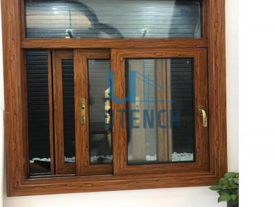 Powder coating alumininum sliding window with toughed glass