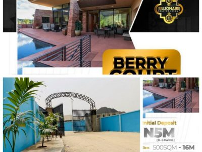 Buy Your Plot of Land or Your Dream Home at Berry Court (Call OR WhatsApp – 08102679845)