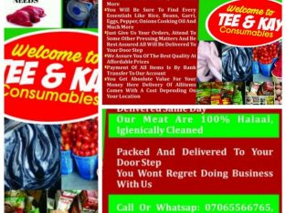 We sell & deliver fresh food items to your doorstep @ Tee & kay consumables – Call or Whatsapp