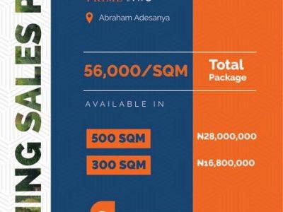 Lands For Sale at URBAN PRIME TWO ESTATE, Abraham Adesanya