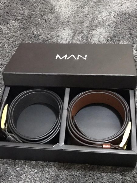 Buy Boohoo Men's 2-Pack Belt Gift Set From Us (Nationwide Delivery)