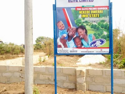 NOW SELLING: Plots of Land at Palms Garden, Owerri, Imo State (Call or Whatsapp – 09067566475)
