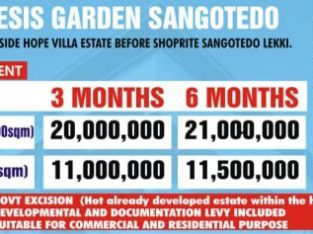 We are Selling Plots of Land at Genesis Garden, Sangotedo, Lekki