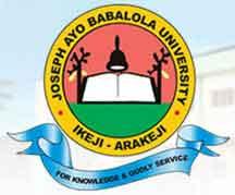 Joseph Ayo Babalola University, Ikeji-Arakeji 2020/2021 Admission Form,Direct Entry Form Is On