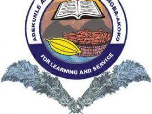 Adekunle Ajasin University, Akungba Akoko (AAUA) 2020/2021 Post-UTME Admission form, Direct Entry fo