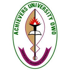 Achievers University,Owo (AC) Post UTME Form 2020/2021 Direct Entry Admission Form is out