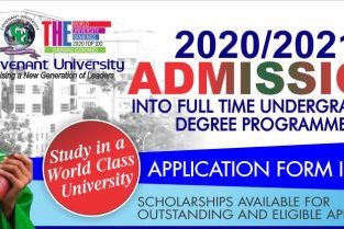 Covenant University 2020/2021 Admission Form/ Post Utme Form is out