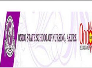 Ondo State School of Nursing Akure admission form is on sale for2021/22 session