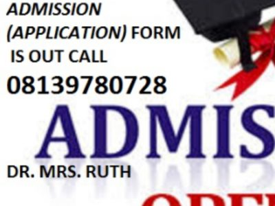 School of Nursing, (SON) Anua-Uyo 2021/2022 Form is out call 08139780728