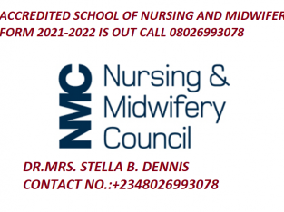 Taraba School Of Nursing 2021/2022 Admission Form is out call 08026993078 for mo