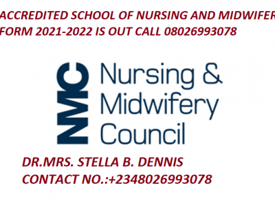 Lagos State School of Nursing Military House 2021/2022 Admission Form is out cal