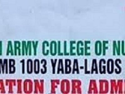 Nigerian Army College Of Nursing,Yaba 2021/22 Session Admission Forms on sales