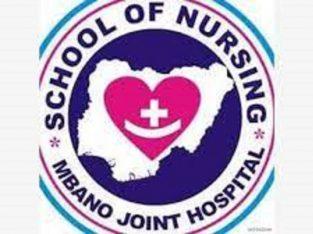 School of Nursing, Mbano,Joint Hospital 2021/22 Session Admission form on sales