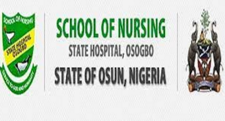 Osun State School of Nursing, Osogbo 2021/22 Session Admission Forms are on sale