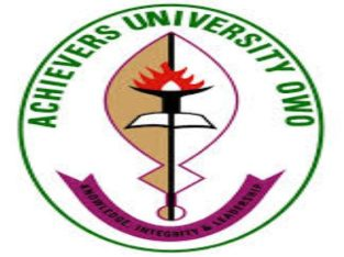 Achievers University,Owo Admission Application Form for 2021/2022 Session is out